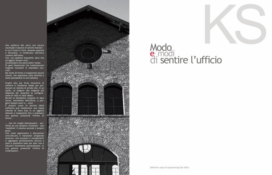 Pagina 2 - Mobilier pentru birouri IVM Colectia KOSMOS Catalog, brosura Engleza, Italiana cativa la ...