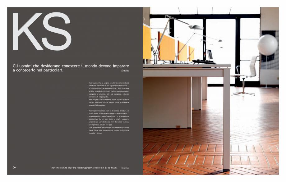 Pagina 5 - Mobilier pentru birouri IVM Colectia KOSMOS Catalog, brosura Engleza, Italiana e most...