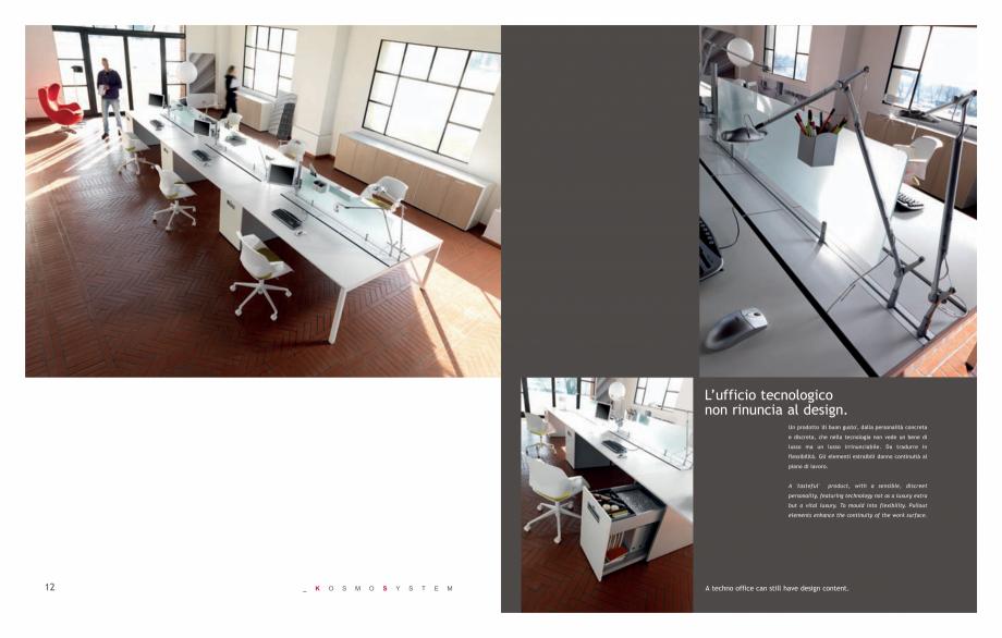 Pagina 8 - Mobilier pentru birouri IVM Colectia KOSMOS Catalog, brosura Engleza, Italiana  and side ...