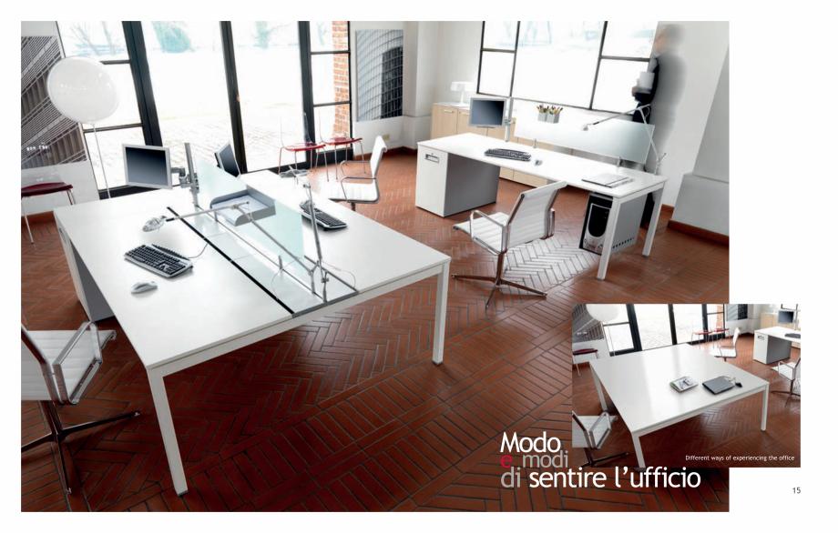 Pagina 9 - Mobilier pentru birouri IVM Colectia KOSMOS Catalog, brosura Engleza, Italiana ractical...