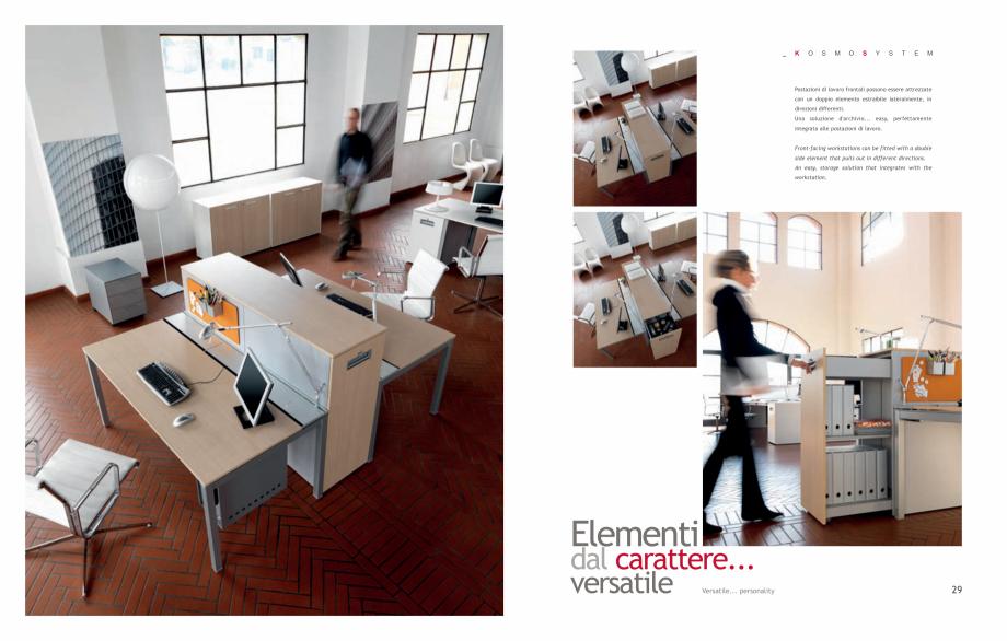 Pagina 16 - Mobilier pentru birouri IVM Colectia KOSMOS Catalog, brosura Engleza, Italiana onitor....
