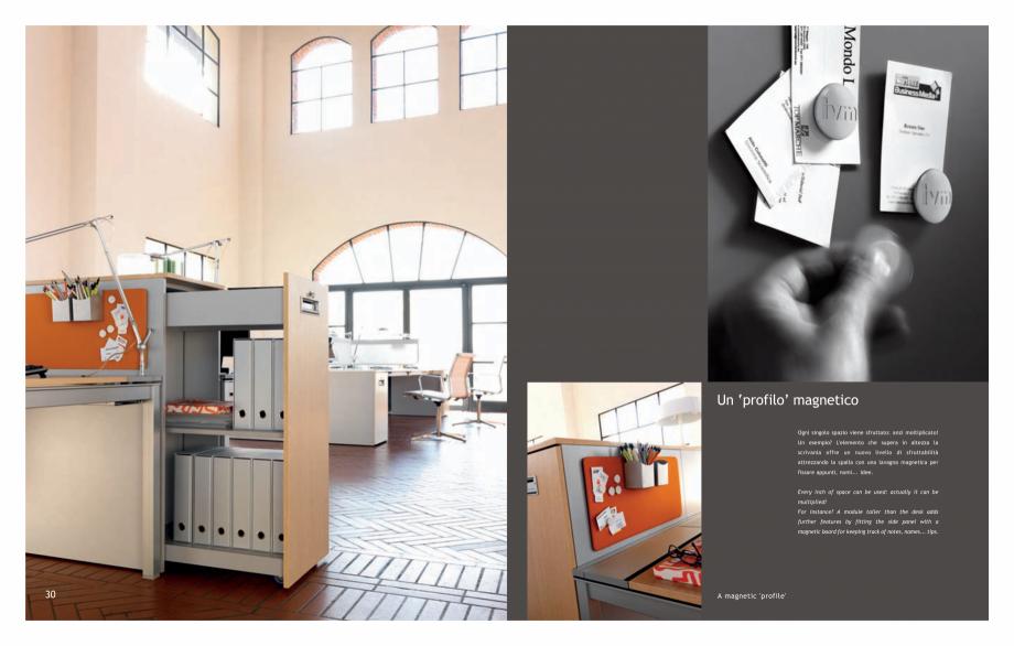 Pagina 17 - Mobilier pentru birouri IVM Colectia KOSMOS Catalog, brosura Engleza, Italiana monitor...