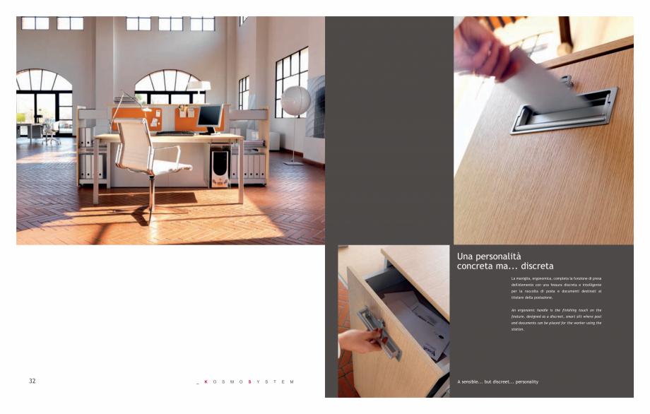 Pagina 18 - Mobilier pentru birouri IVM Colectia KOSMOS Catalog, brosura Engleza, Italiana REGAZIONE...