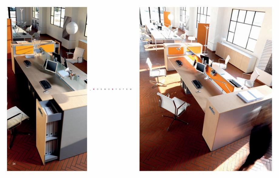 Pagina 19 - Mobilier pentru birouri IVM Colectia KOSMOS Catalog, brosura Engleza, Italiana 72  L....