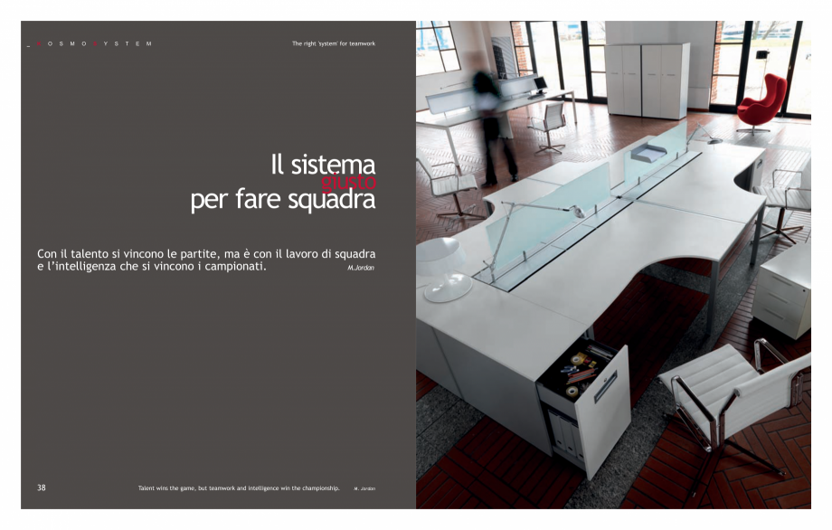 Pagina 21 - Mobilier pentru birouri IVM Colectia KOSMOS Catalog, brosura Engleza, Italiana tutta in ...