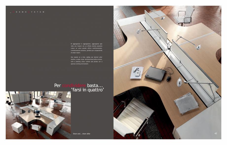 Pagina 23 - Mobilier pentru birouri IVM Colectia KOSMOS Catalog, brosura Engleza, Italiana 9010. -...