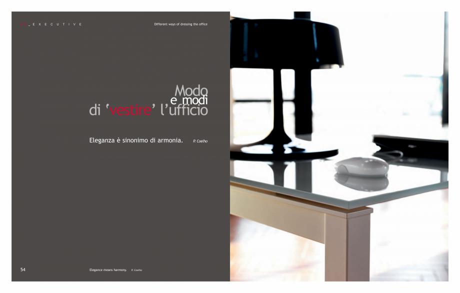 Pagina 29 - Mobilier pentru birouri IVM Colectia KOSMOS Catalog, brosura Engleza, Italiana  ABS...