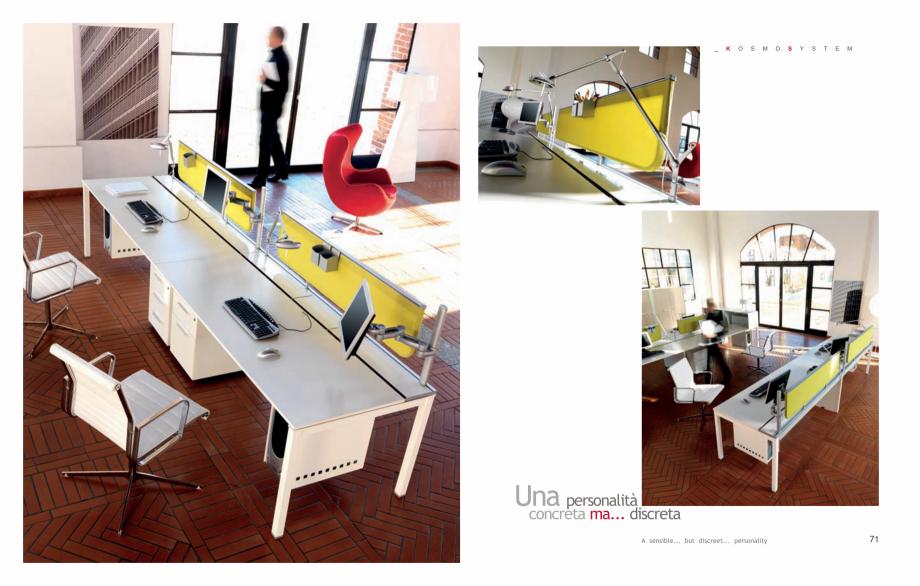 Pagina 37 - Mobilier pentru birouri IVM Colectia KOSMOS Catalog, brosura Engleza, Italiana me finish...