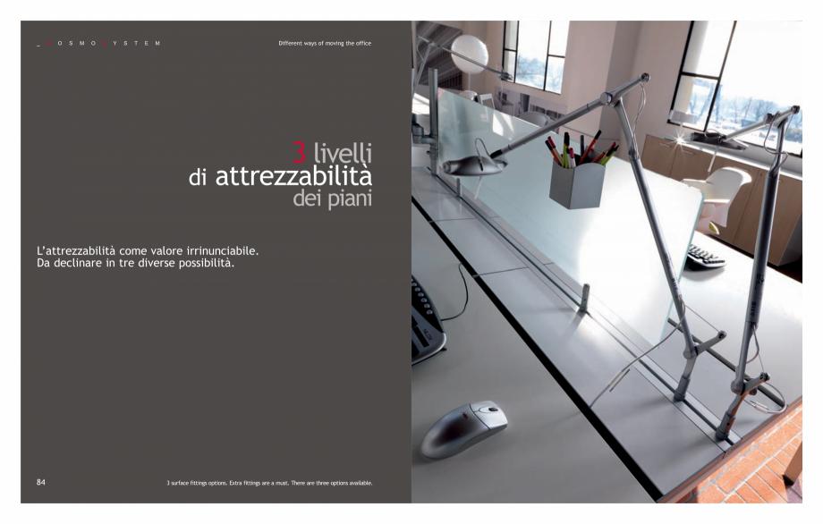 Pagina 44 - Mobilier pentru birouri IVM Colectia KOSMOS Catalog, brosura Engleza, Italiana