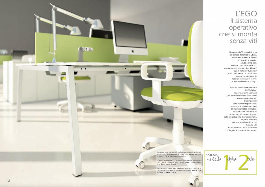 Pagina 2 - Mobilier pentru birouri IVM Colectia L'EGO Catalog, brosura Engleza, Italiana e...