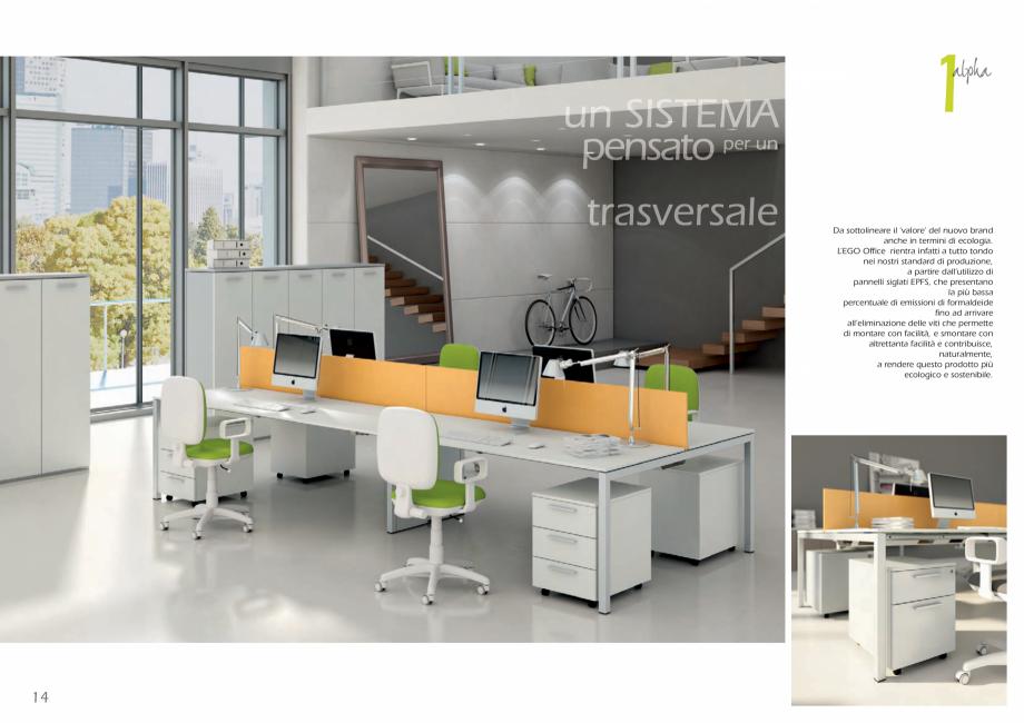 Pagina 8 - Mobilier pentru birouri IVM Colectia L'EGO Catalog, brosura Engleza, Italiana e...