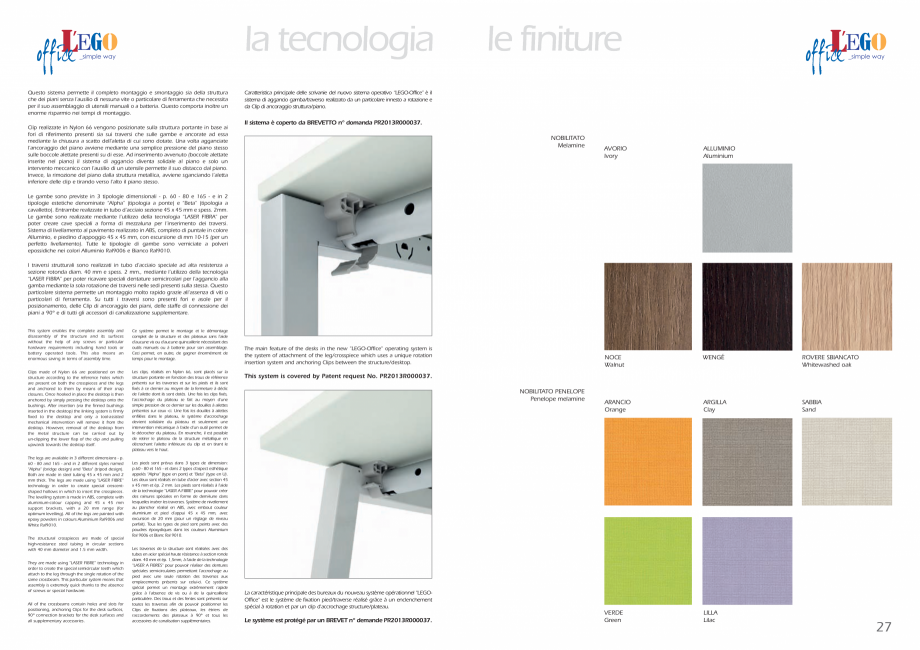 Pagina 14 - Mobilier pentru birouri IVM Colectia L'EGO Catalog, brosura Engleza, Italiana de...
