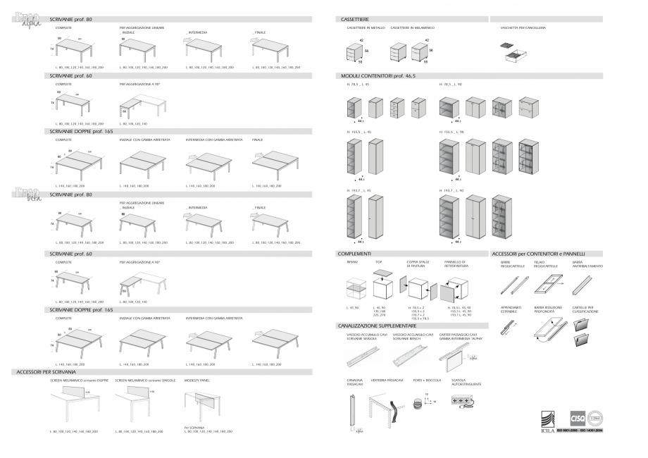 Pagina 16 - Mobilier pentru birouri IVM Colectia L'EGO Catalog, brosura Engleza, Italiana...