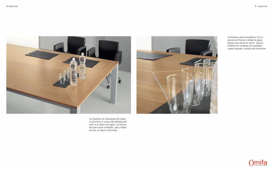 Pagina 5 - Mobilier pentru birouri OMIFA CUBE-ONE Catalog, brosura Engleza, Italiana e in cristallo ...