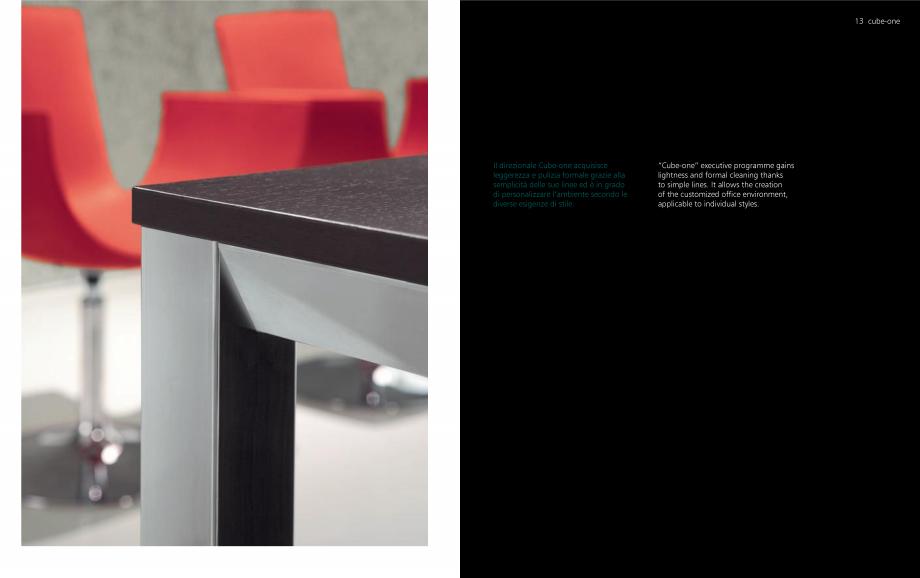 Pagina 7 - Mobilier pentru birouri OMIFA CUBE-ONE Catalog, brosura Engleza, Italiana
