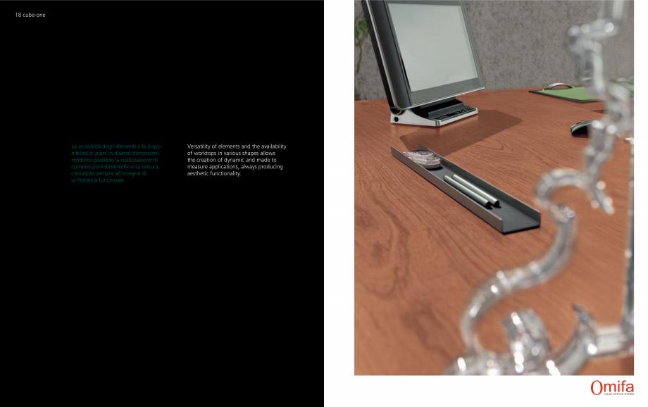 Pagina 10 - Mobilier pentru birouri OMIFA CUBE-ONE Catalog, brosura Engleza, Italiana