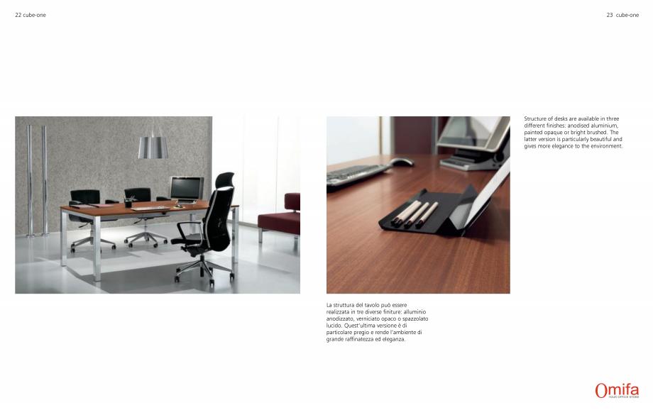 Pagina 12 - Mobilier pentru birouri OMIFA CUBE-ONE Catalog, brosura Engleza, Italiana
