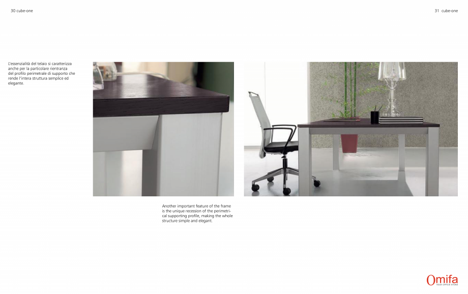 Pagina 16 - Mobilier pentru birouri OMIFA CUBE-ONE Catalog, brosura Engleza, Italiana