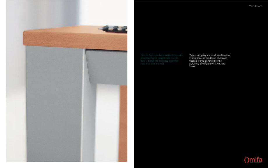 Pagina 18 - Mobilier pentru birouri OMIFA CUBE-ONE Catalog, brosura Engleza, Italiana