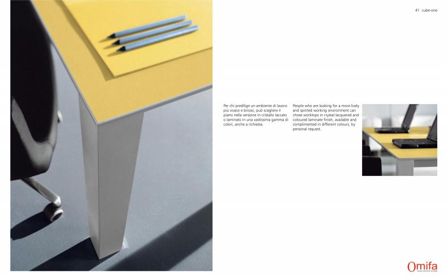 Pagina 21 - Mobilier pentru birouri OMIFA CUBE-ONE Catalog, brosura Engleza, Italiana