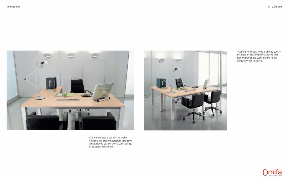 Pagina 24 - Mobilier pentru birouri OMIFA CUBE-ONE Catalog, brosura Engleza, Italiana
