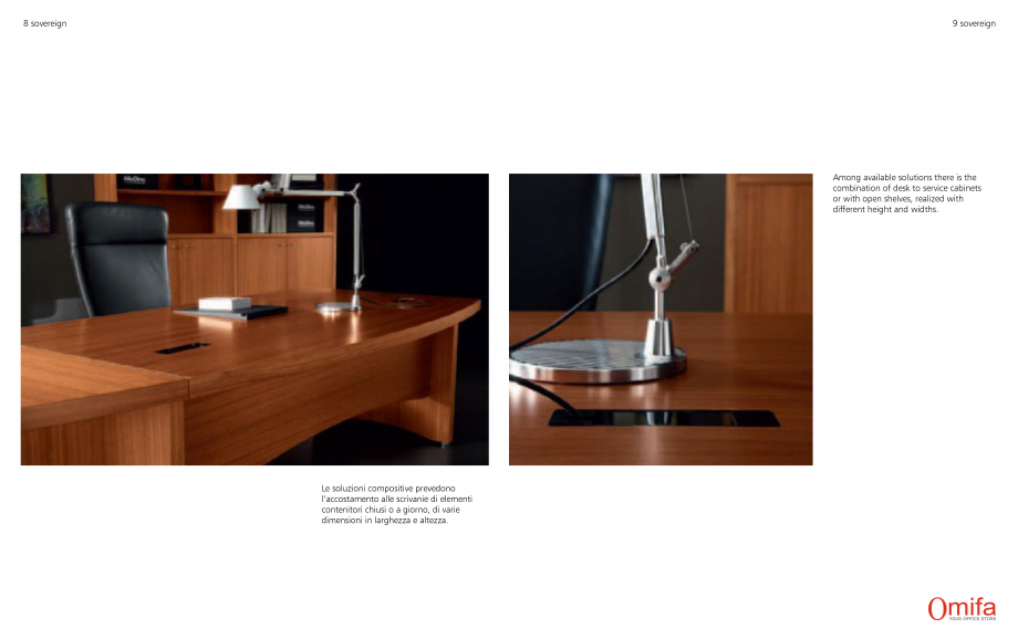 Pagina 5 - Mobilier pentru birouri OMIFA SOVEREIGN Catalog, brosura Engleza, Italiana