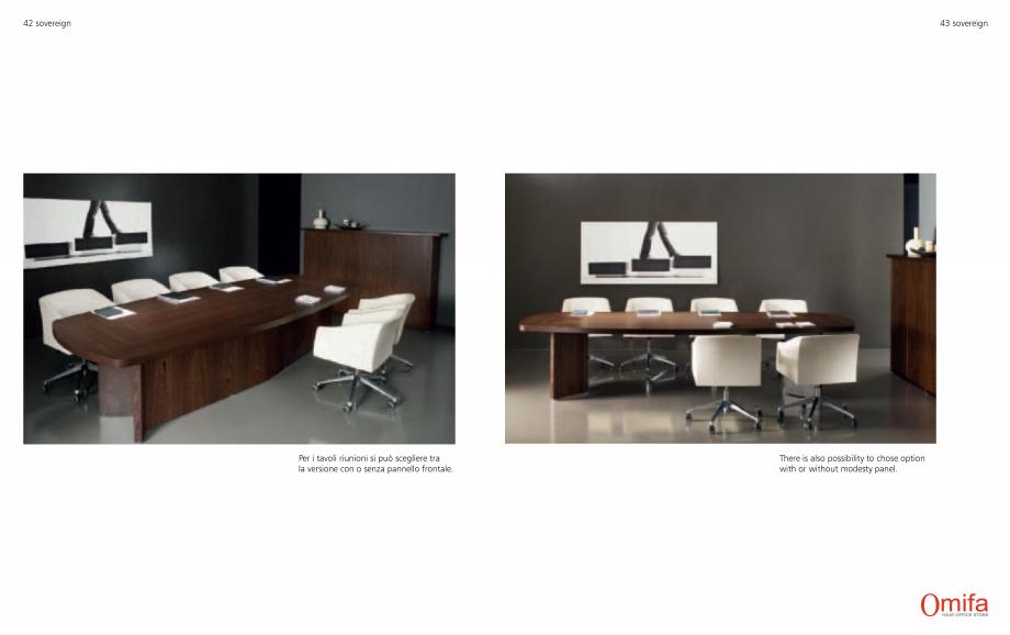 Pagina 22 - Mobilier pentru birouri OMIFA SOVEREIGN Catalog, brosura Engleza, Italiana