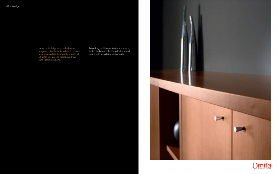 Pagina 23 - Mobilier pentru birouri OMIFA SOVEREIGN Catalog, brosura Engleza, Italiana