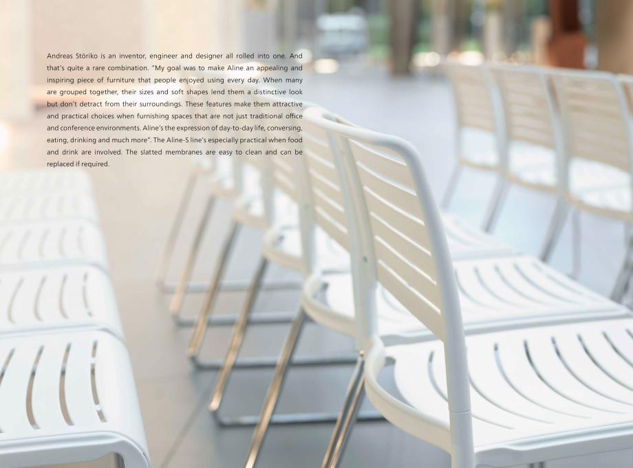Pagina 9 - Scaune Wilkhahn Aline-S Catalog, brosura Engleza sign concept. R  ecycled materials are...