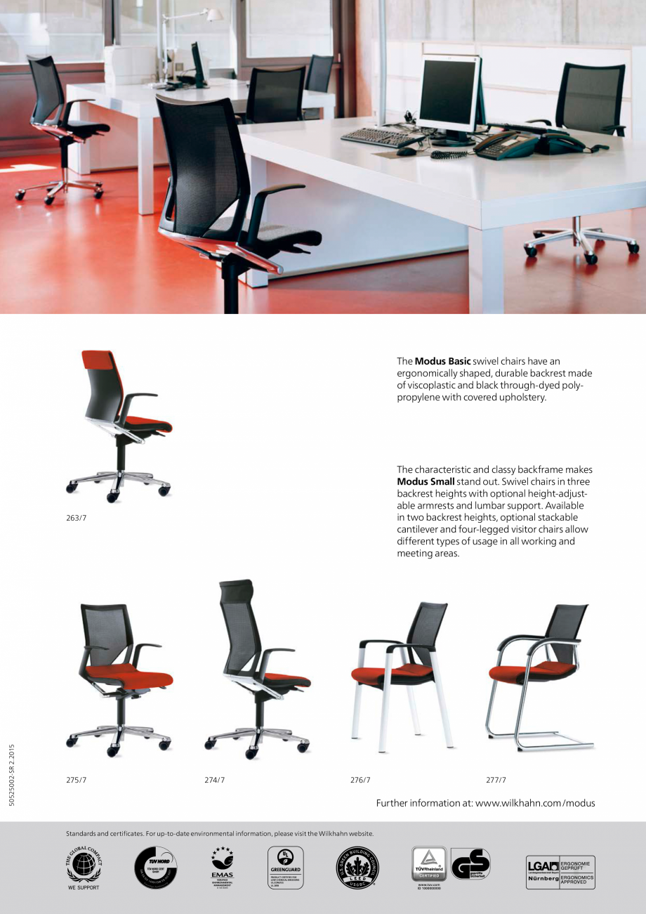 Pagina 2 - Scaune pivotante Wilkhahn Modus Compact Catalog, brosura Engleza springs ensures the seat...