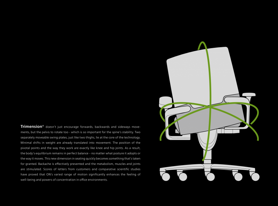 Pagina 5 - Scaune de birou Wilkhahn On Catalog, brosura Engleza res that include sitting up straight...