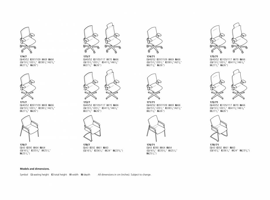 Pagina 18 - Scaune de birou Wilkhahn On Catalog, brosura Engleza