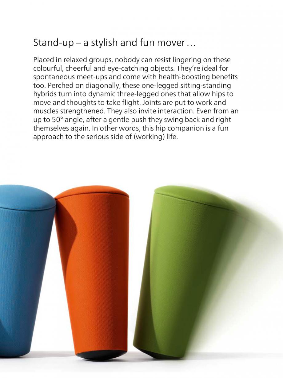 Pagina 2 - Scaune Wilkhahn Stand-up Catalog, brosura Engleza  ensure it bounces back like a...