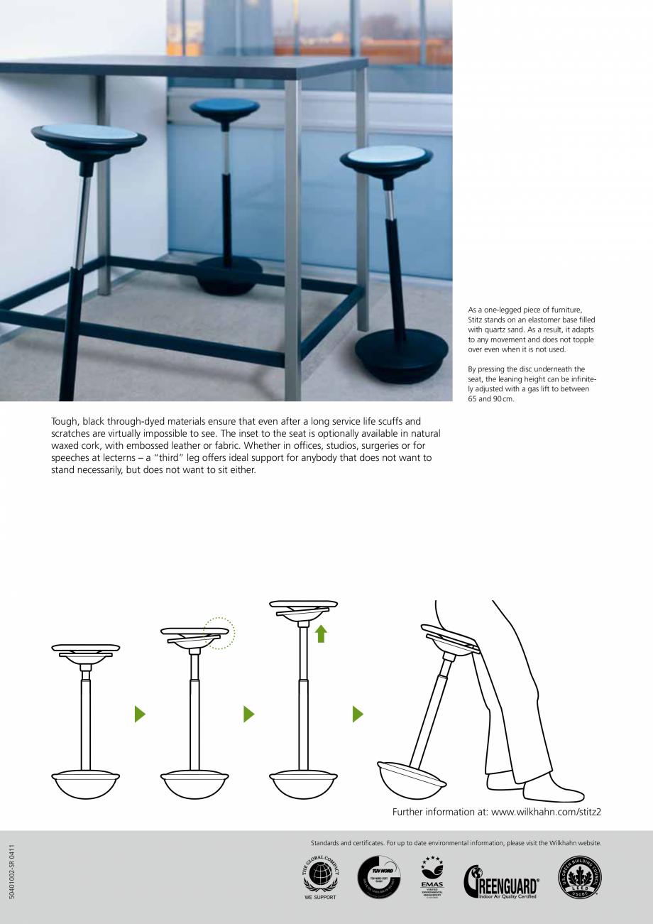 Pagina 2 - Scaune Wilkhahn Stitz Catalog, brosura Engleza s that regular use of Stitz boosts your...