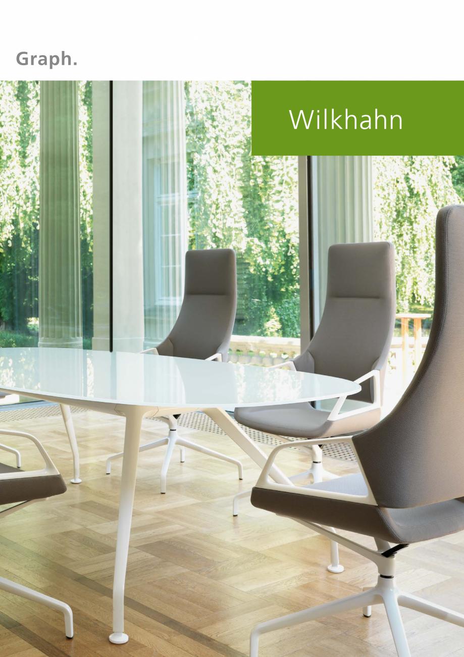 Pagina 1 - Masa de conferinte  Wilkhahn Graph Catalog, brosura Engleza Graph.  Matching conference...