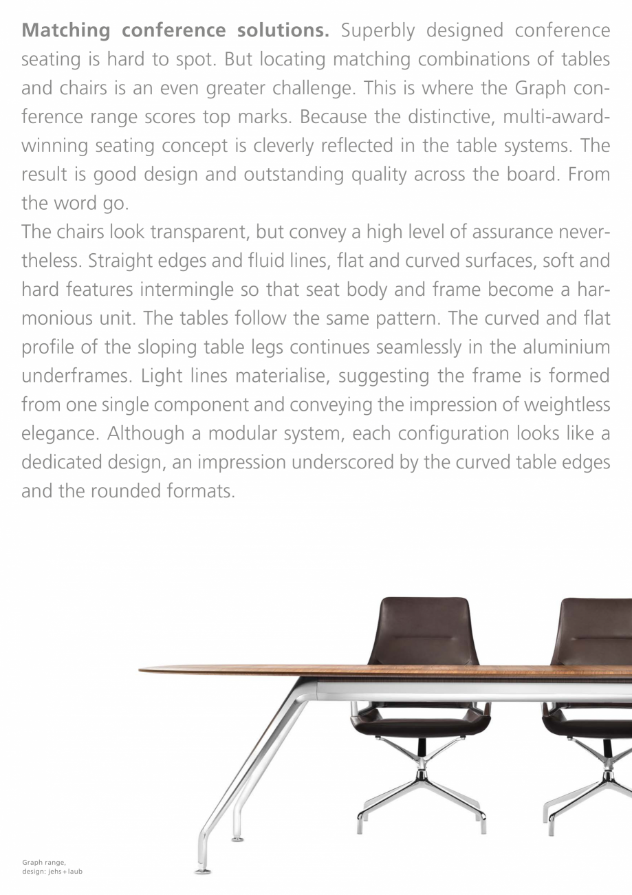 Pagina 3 - Masa de conferinte  Wilkhahn Graph Catalog, brosura Engleza ished MDF table tops might be...