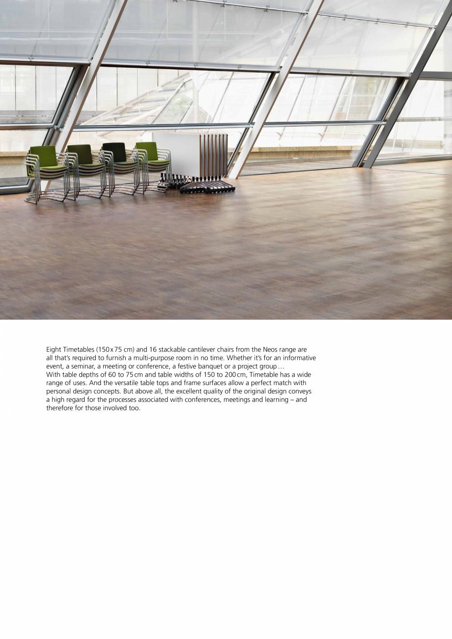 Pagina 2 - Masa mobila Wilkhahn Timetable Catalog, brosura Engleza om the Neos range are...