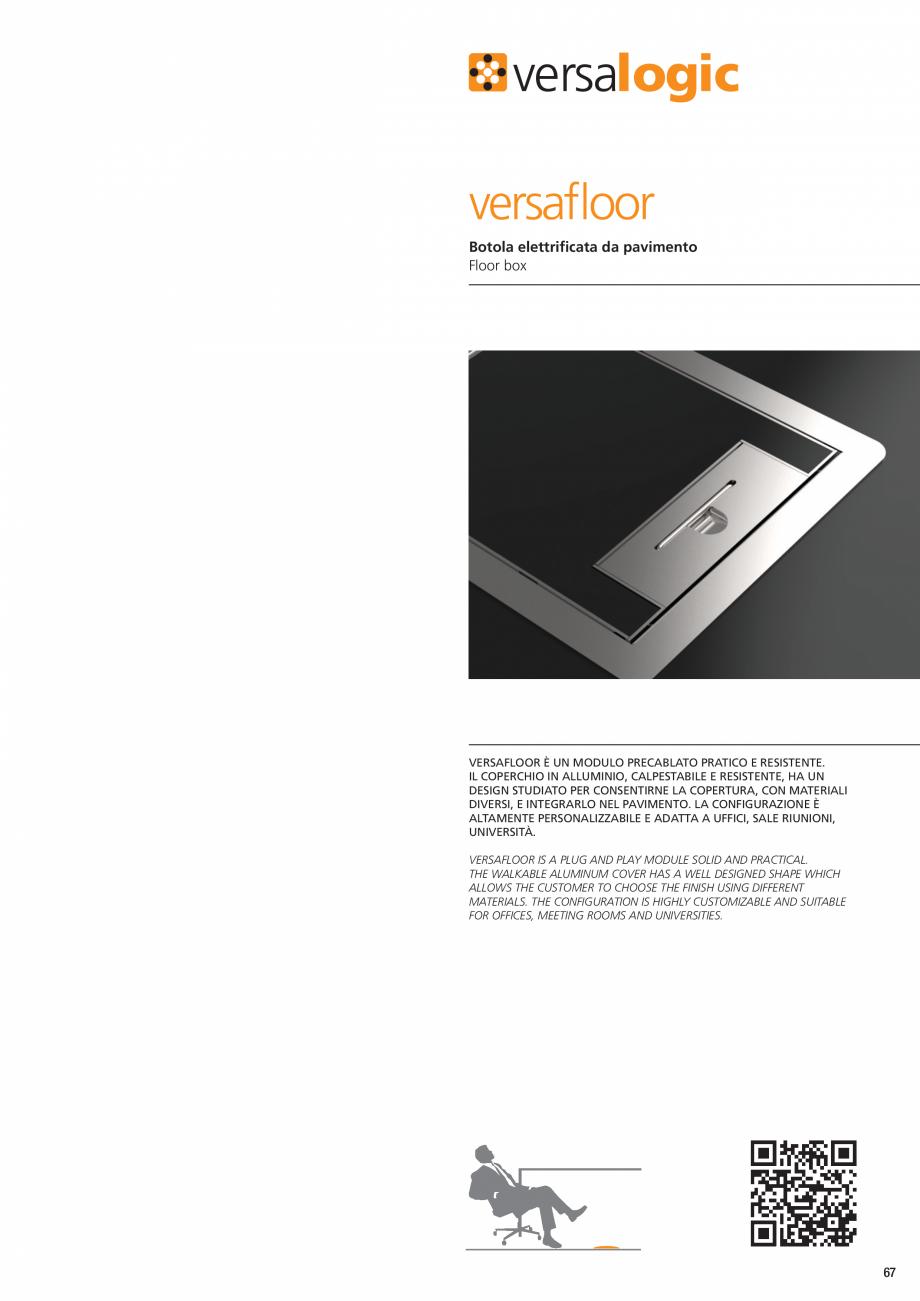 Pagina 2 - Caseta pentru pardoseala tehnica ASA VersaFloor Fisa tehnica Engleza  Solo in ambienti...