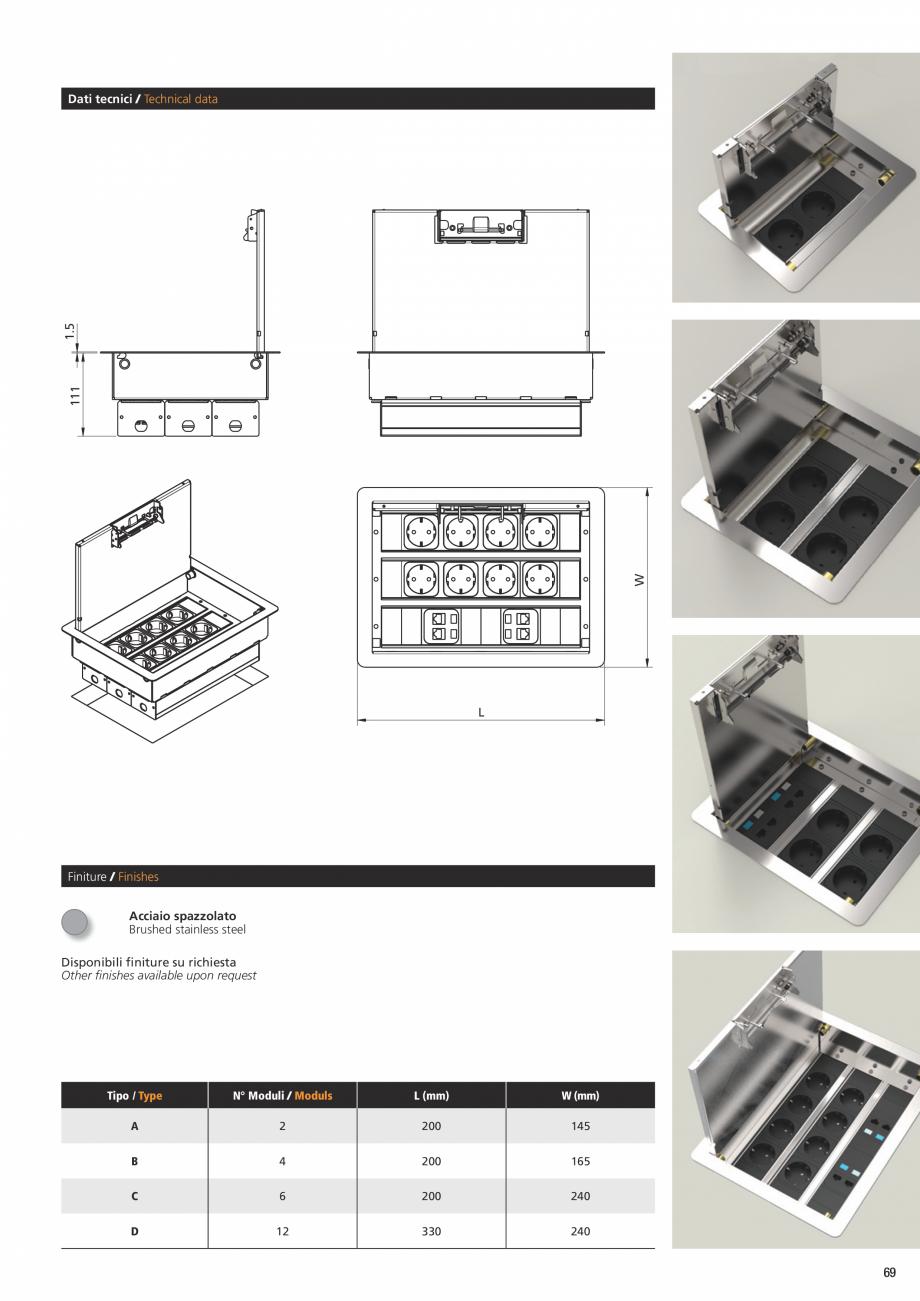 Pagina 4 - Caseta pentru pardoseala tehnica ASA VersaFloor Fisa tehnica Engleza