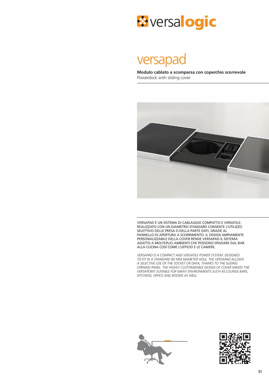 Pagina 2 - Doc de alimentare cu capac glisant ASA VersaPad Fisa tehnica Engleza Amp  1 Frutto Power,...