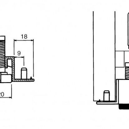 Piciorus reglabil pentru dulapuri Serie 24  Serie 24 Piciorus reglabil pentru dulapuri
