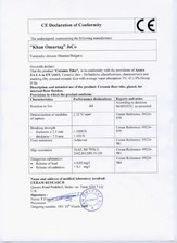 Declaratie de conformitate CE KAI PROGRES CERAMICA