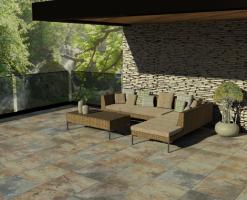 Gresie de exterior KAI PROGRES CERAMICA a reusi sa dezvolte placi de pardoseala pentru interior, placi de gresie portelanata tehnica si glazurata si elemente de decor in dimensiuni variate.