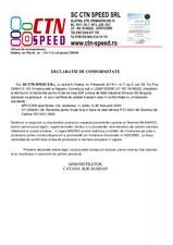 Declaratie de conformitate bentonita pentru fluide de foraj CTN SPEED