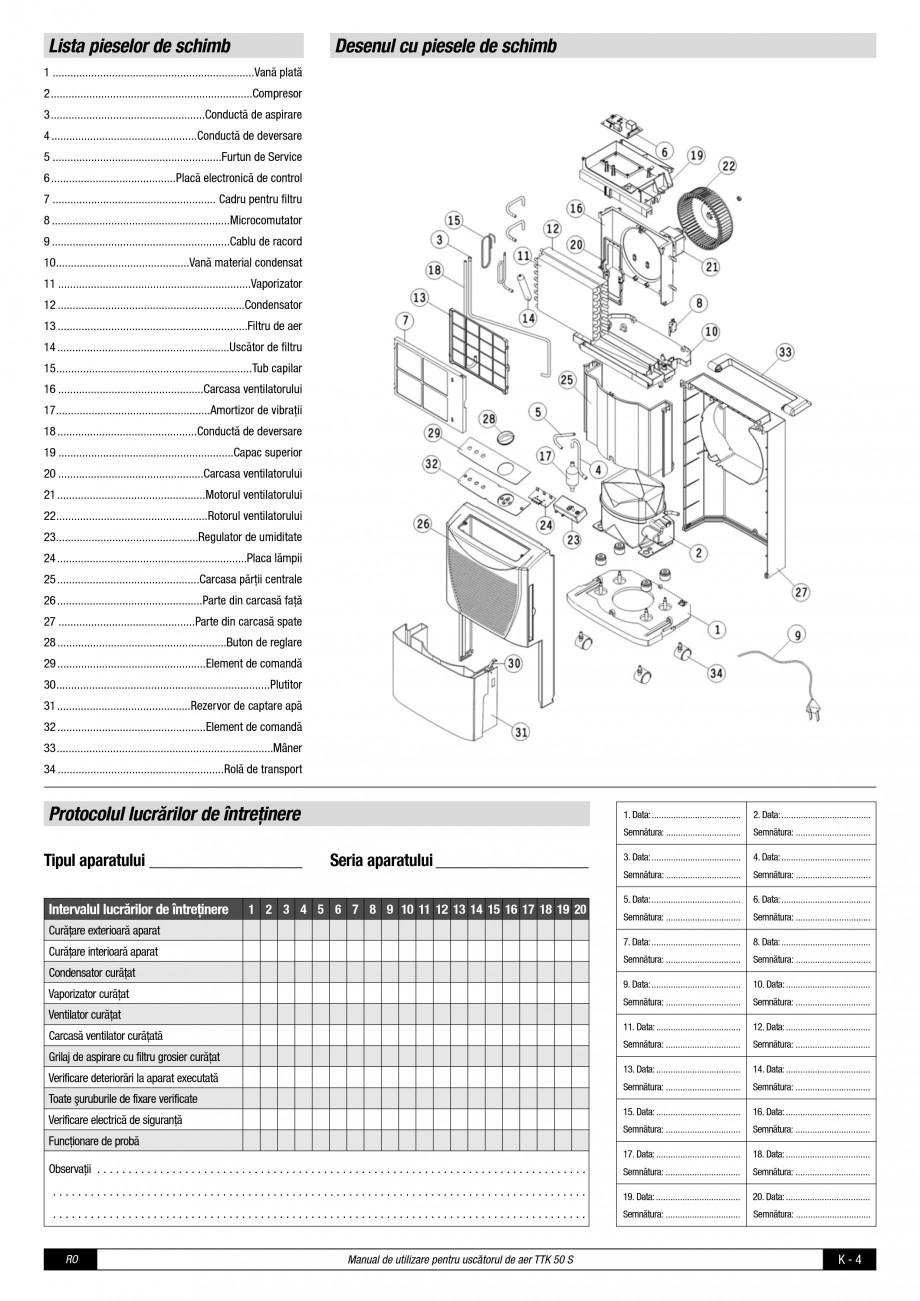 Pagina 5 - Dezumidificator casnic TROTEC Germany Instructiuni montaj, utilizare Romana er umed din...