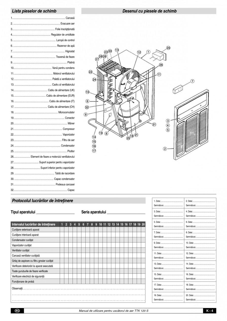 Pagina 5 - Dezumidificator profesional TROTEC Germany TTK 120 Instructiuni montaj, utilizare Romana ...