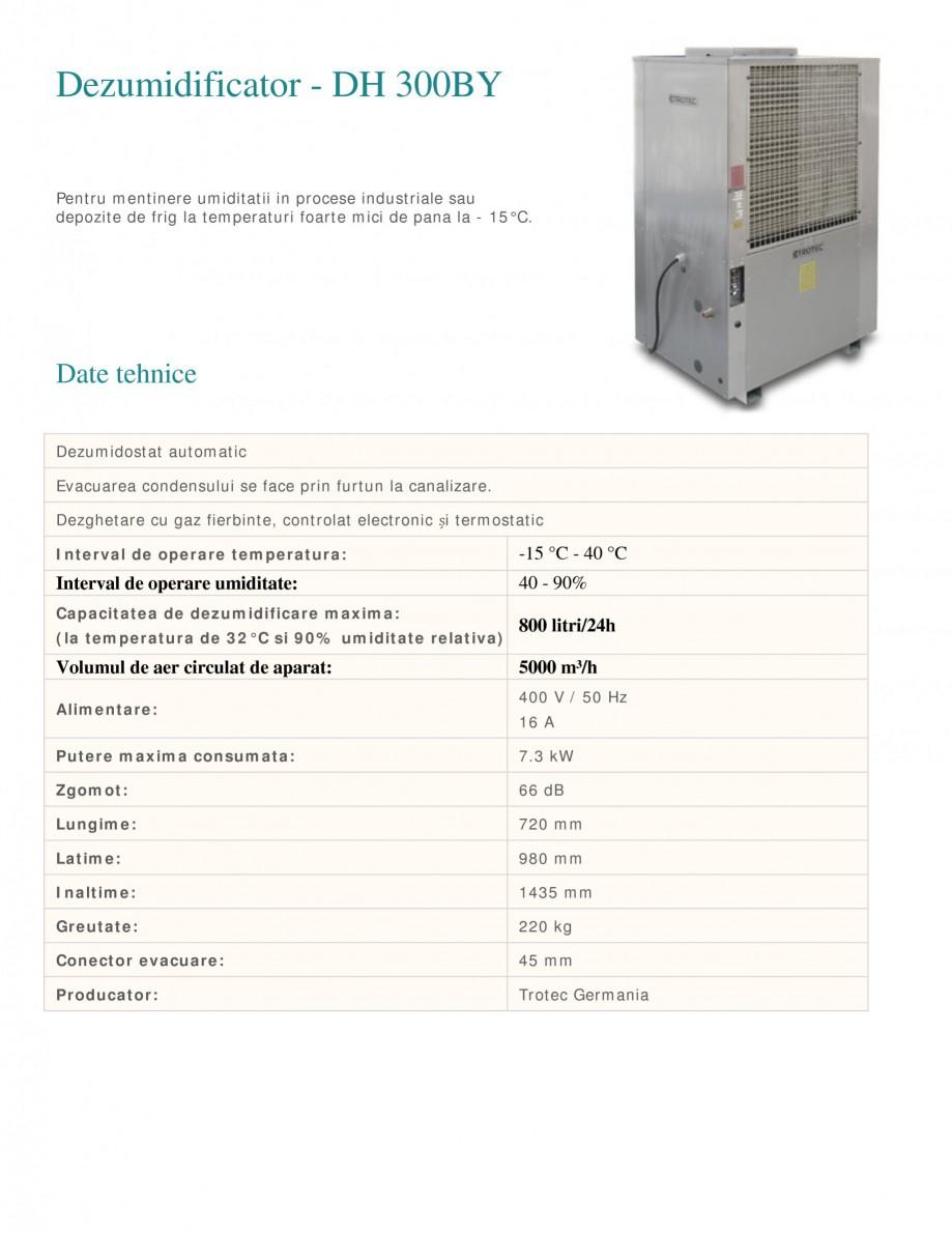 Pagina 1 - Dezumidificator industrial TROTEC Germany DH300BY Fisa tehnica Romana Dezumidificator -...
