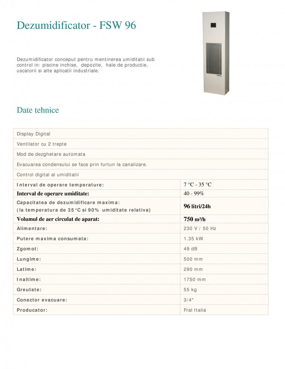 Pagina 1 - Dezumidificator industrial FRAL FSW 96 Fisa tehnica Romana Dezumidificator - FSW 96...