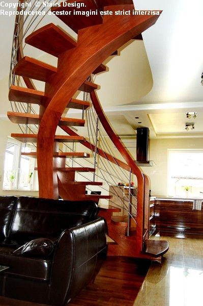 Scara din lemn - SD 38 / Scara din lemn - SD 38b