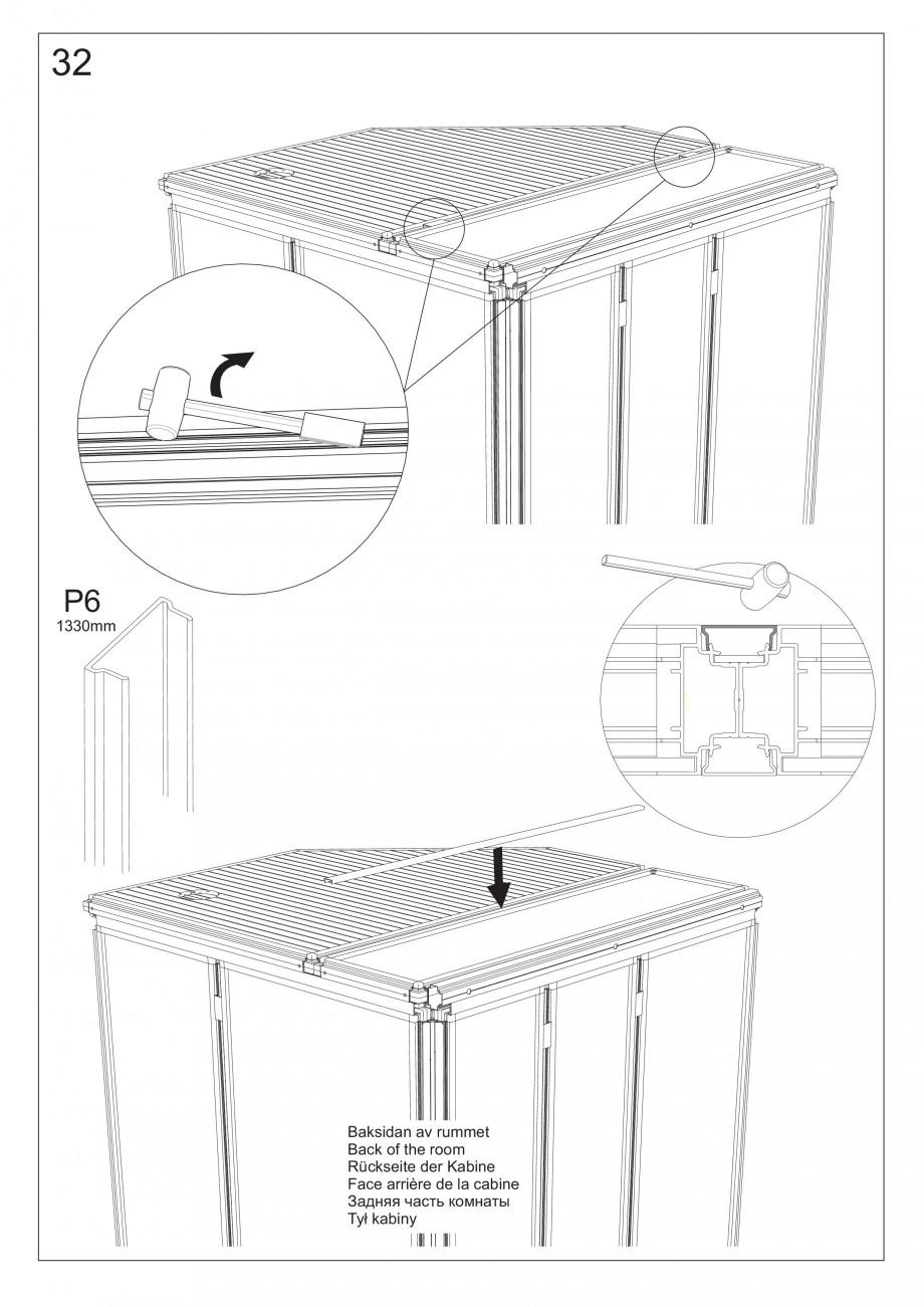 instructiuni montaj  utilizare sauna cu sectiuni din